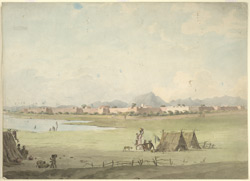 A walled town, S. India (probably Mysore) 112